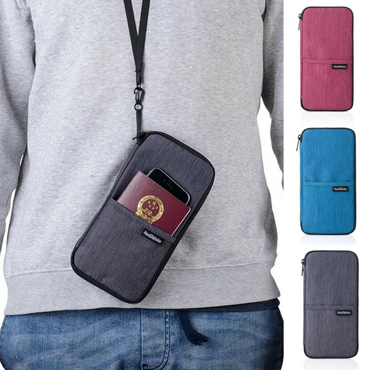 Multi-function Passport Holder Case Travel Wallet ID Cover Case Cards ...