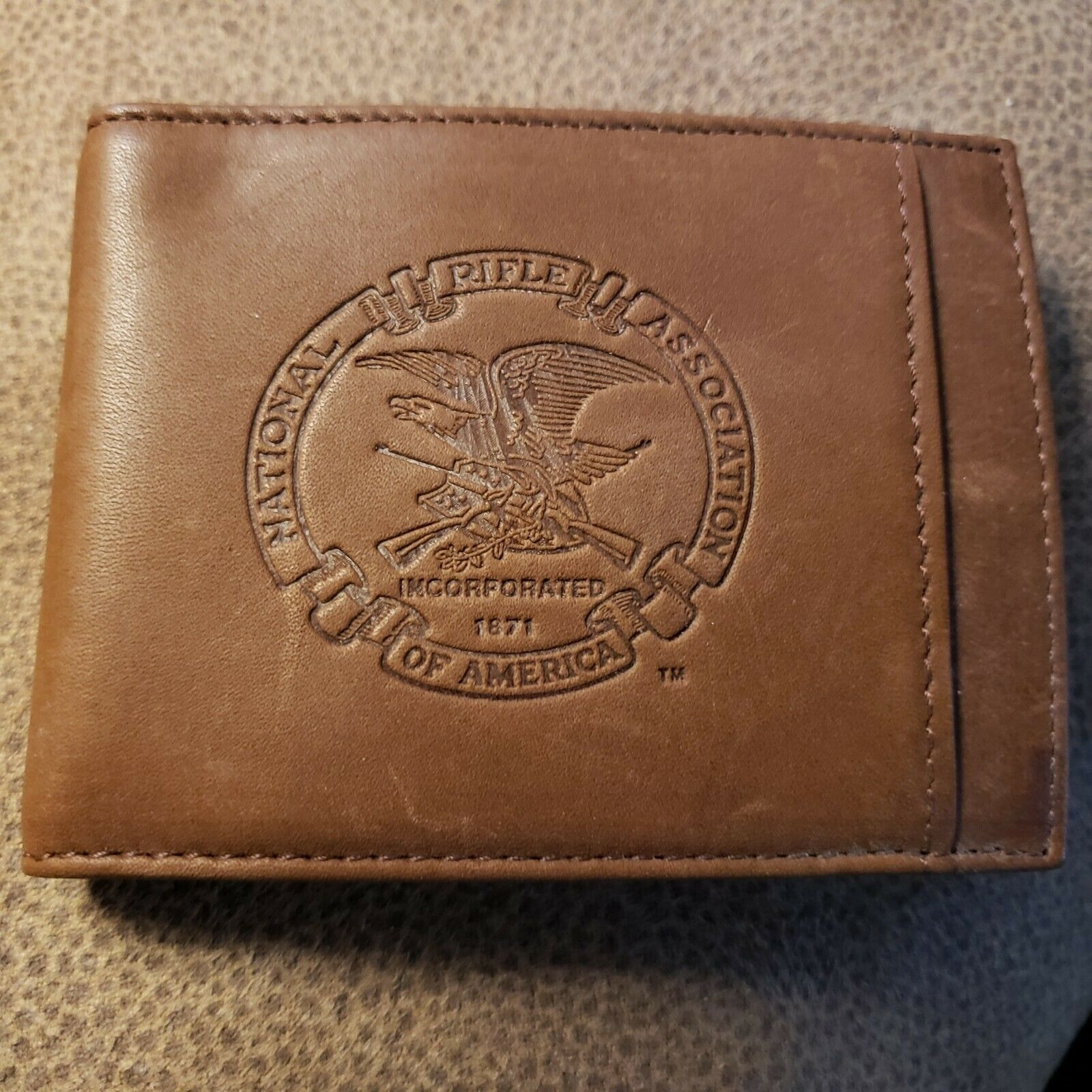 NRA Wallet Brown  Free Shipping