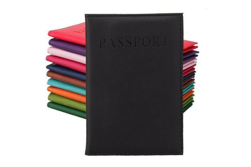 New 2019 Travel Passport cover Leather holder with clear window