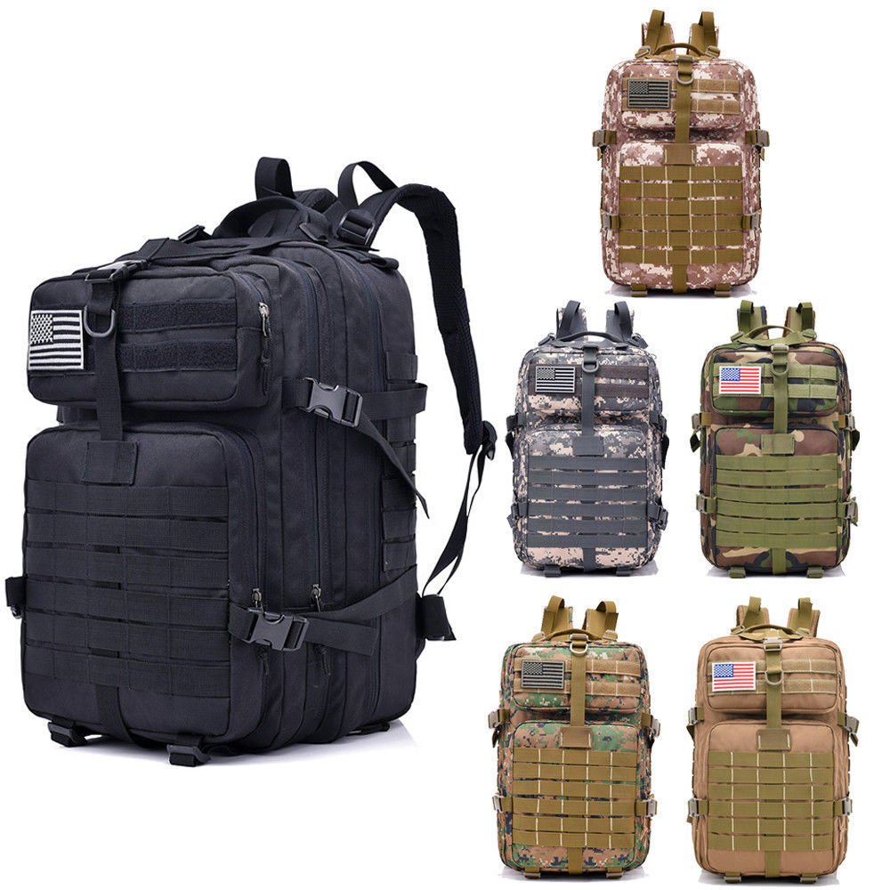 New 40L Military Tactical Backpack Rucksack Large Waterproof Outdoor H...