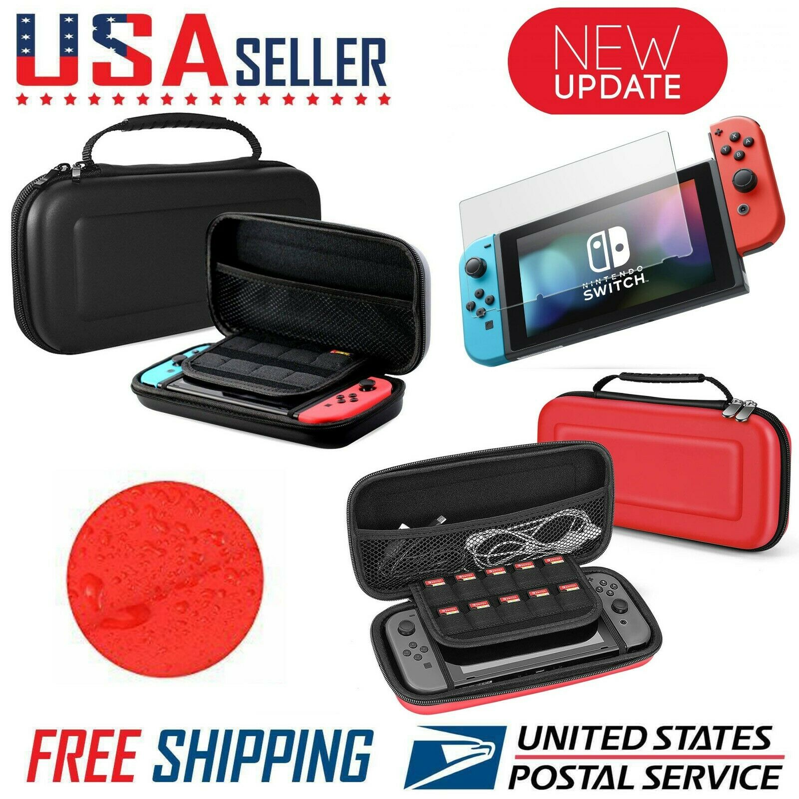 Nintendo Switch Carrying Case Hard Shell Portable Pouch Travel, Screen...