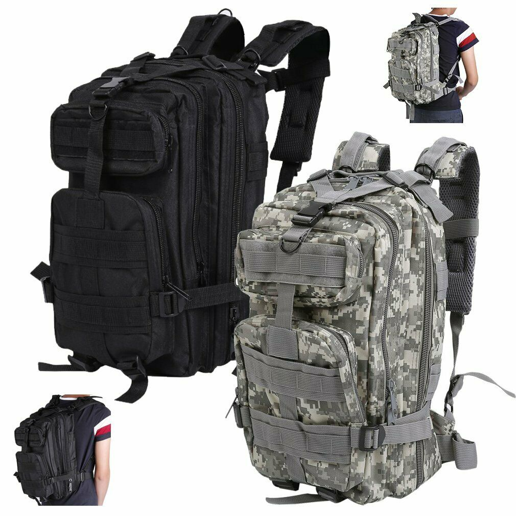 OUTDOOR MILITARY TACTICAL BAGS BACKPACK CAMPING HIKING BAG CAMOUFLAGE ...