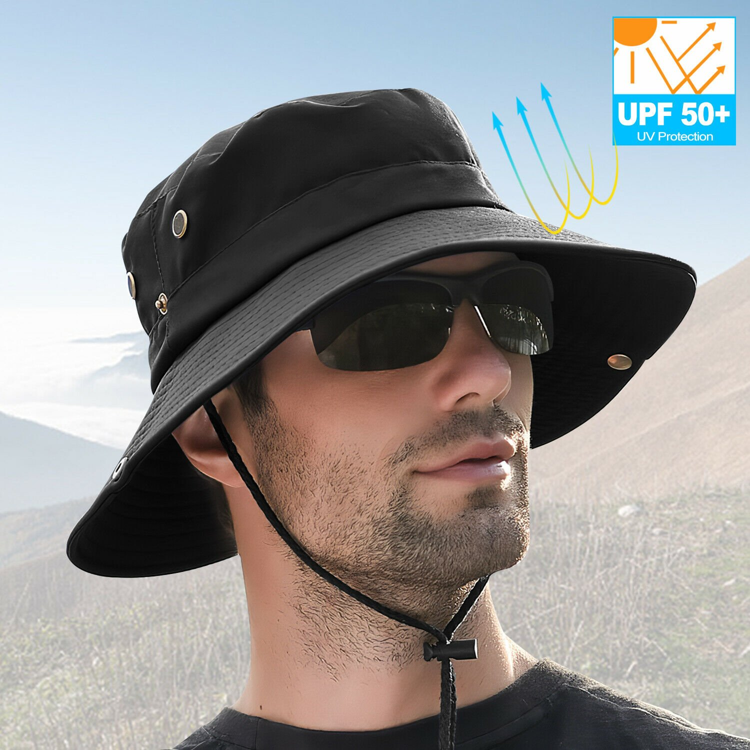 Outdoor Sun Visor Hat UV Protection Cap Hiking Fishing Travel for Wome...