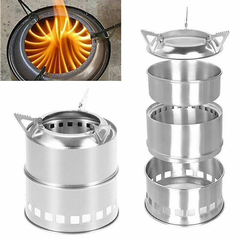 Outdoor Wood Stove Backpacking Portable Survival Wood Burning Camping ...