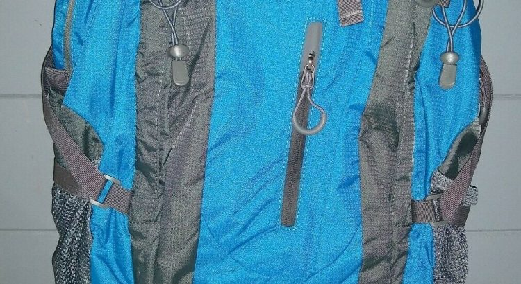 OutdoorMaster Blue Backpack Travel Hiking Camping Bag NWOT rain proof