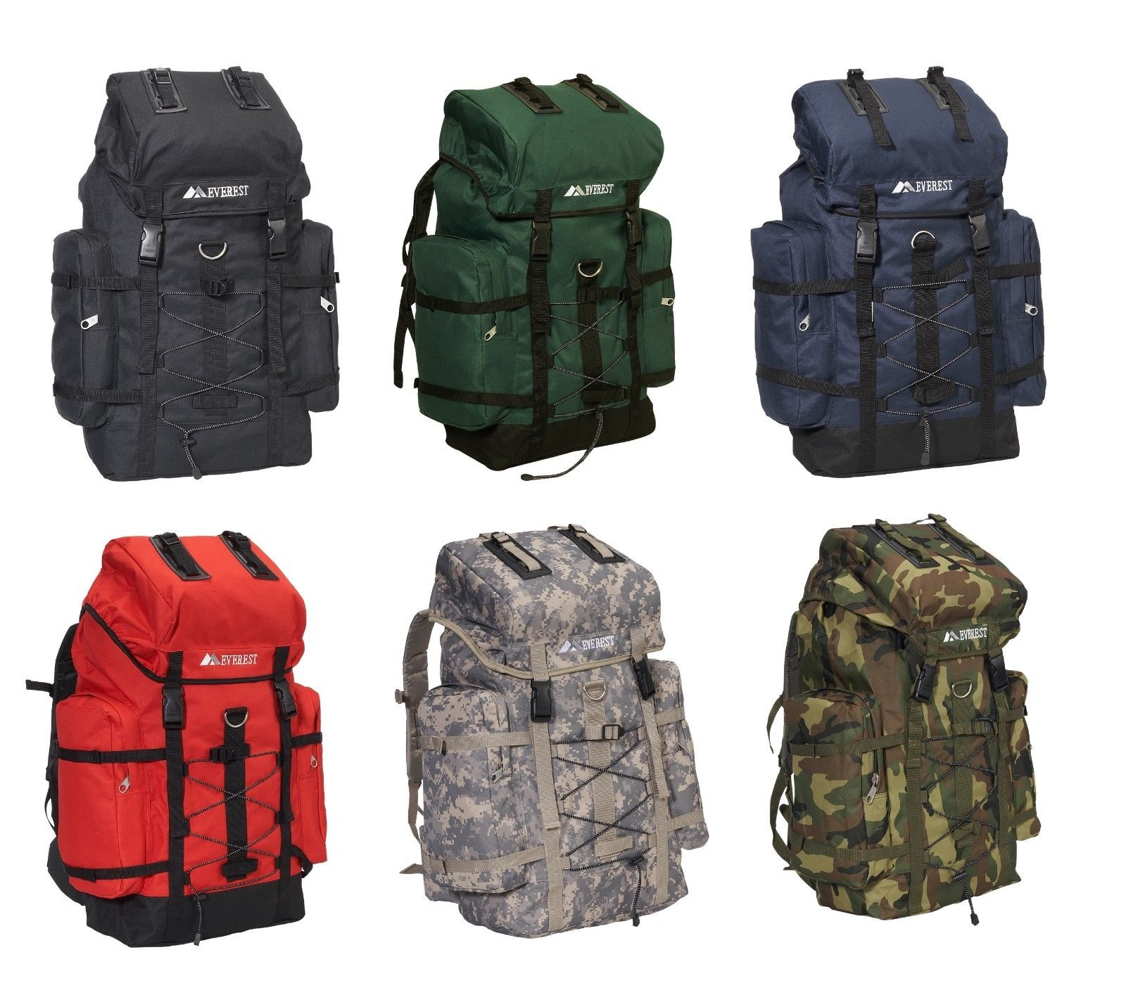 """Oversized 24"""" Large Polyester Hiking Camping Travel Outdoor Backpack ..."""