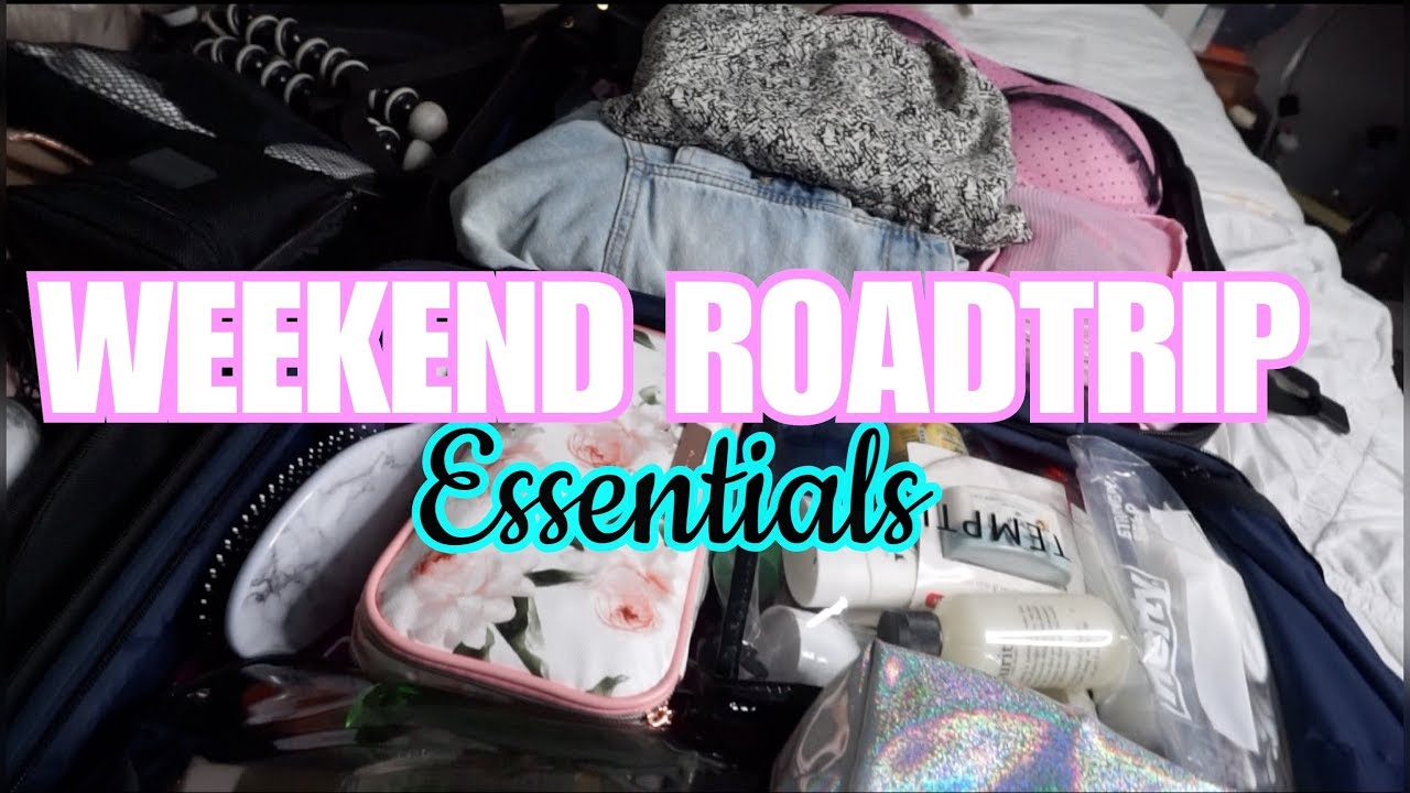 PACK WITH ME | WEEKEND ROAD TRIP - TRAVEL TIPS FOR PACKING LIGHT