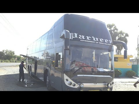 "PARVEEN TRAVELS ""ZHONETONG"" MULTIAXEL BUS CHENNAI TO MADHURA..."