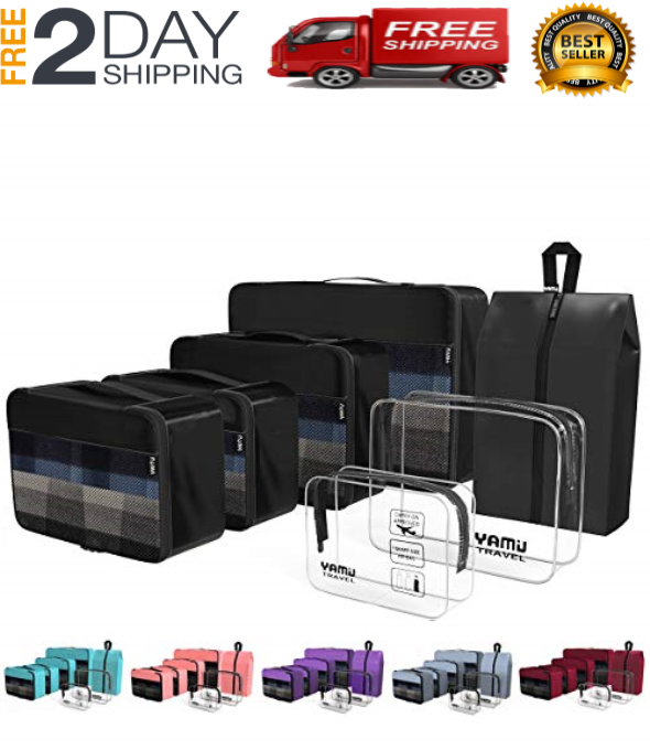 Packing Cubes 7-Pcs Travel Organizer Accessories With Shoe Bag & 2...