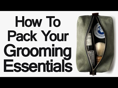 Packing Grooming Essentials For Lightweight Travel | Traveling Tips Sh...