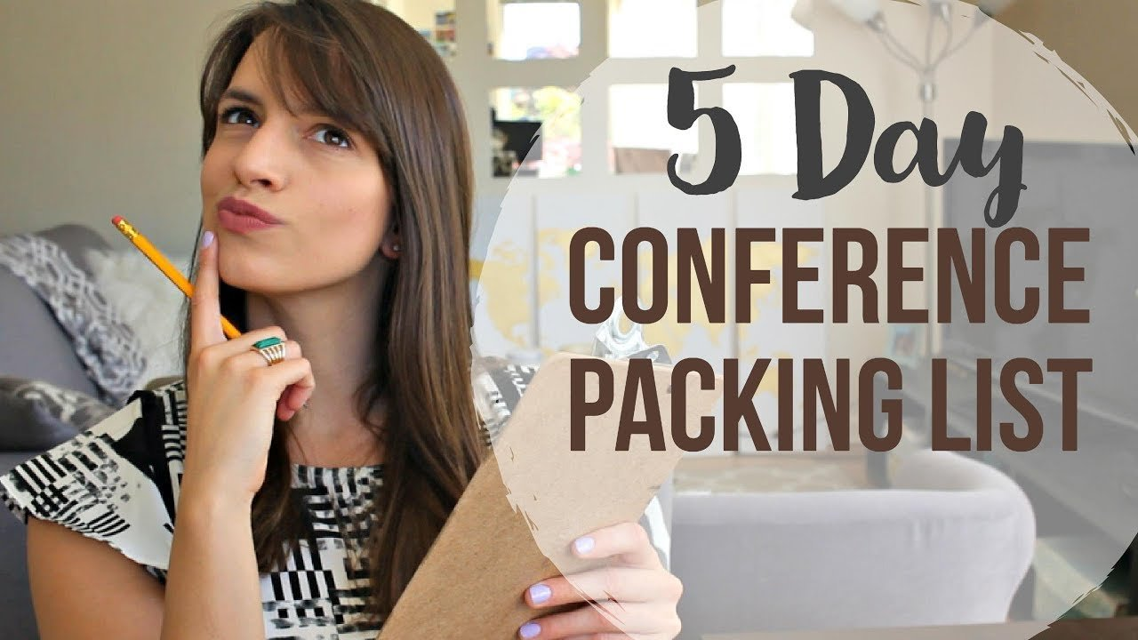 Packing list for a 5 day conference
