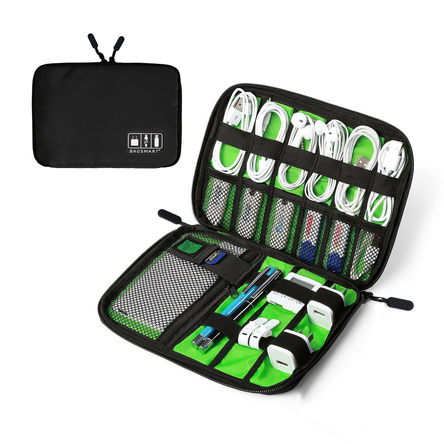Portable Electronic Accessories Cable USB Drive Organizer Bag Travel I...