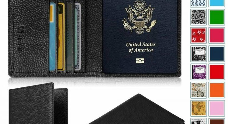 Premium Vegan Leather Passport Holder Travel Wallet RFID Blocking Case...