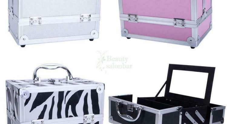 Professional Travel Aluminum Makeup Train Case Cosmetic Jewelry Box w/...