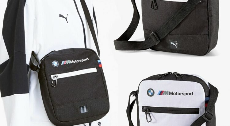 Puma BMW M Motorsport LS Logo Unisex Crossbody Travel Shoulder Bag