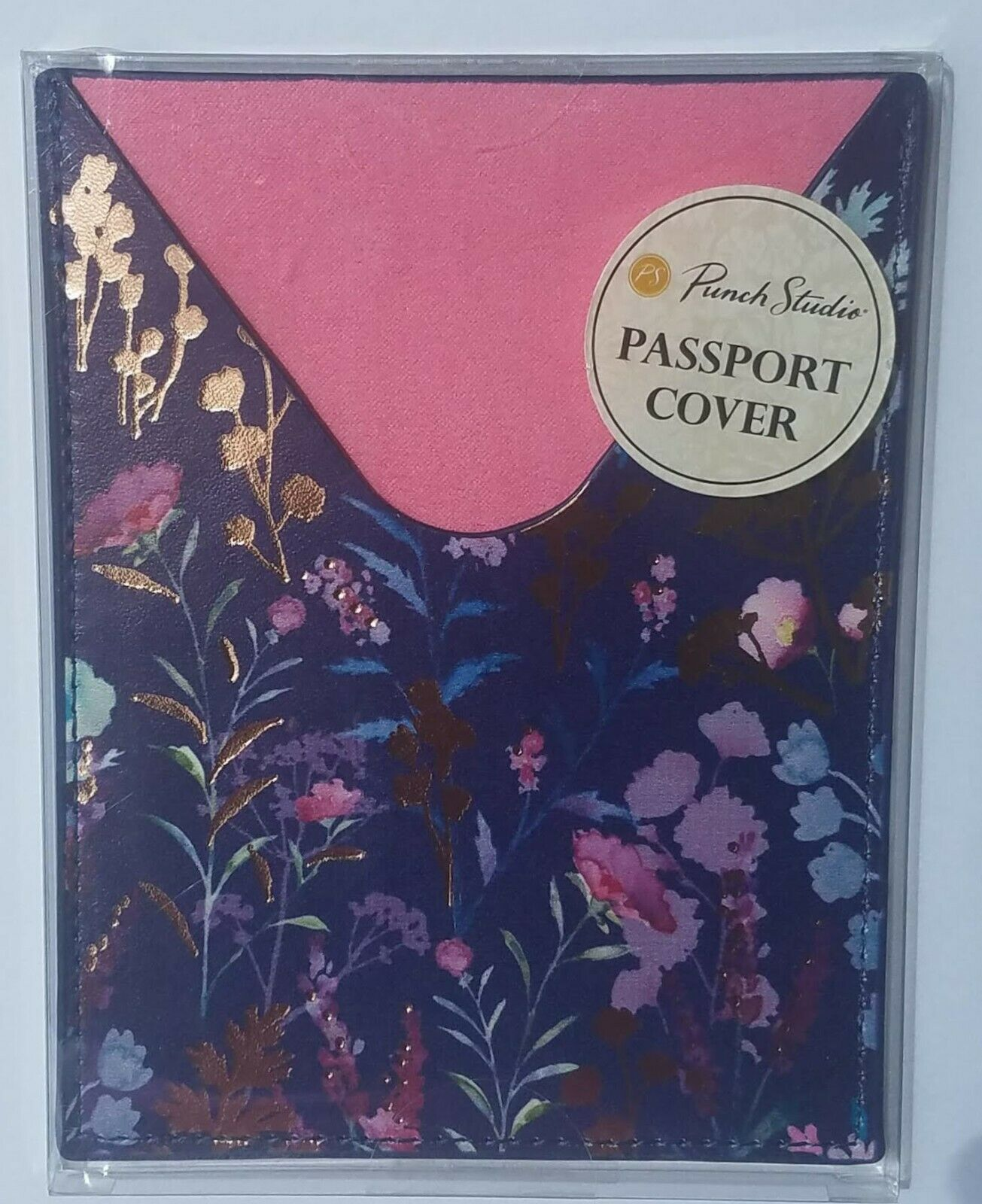 Punch Studio Travel Passport Cover Purple Wildflowers New With Tags