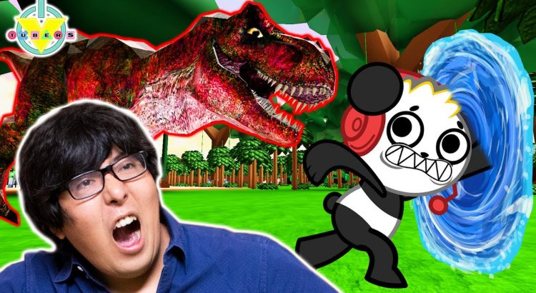 RYAN'S DADDY EXTREME CAMPING WITH DINOSAUR! Roblox Let's Play ...