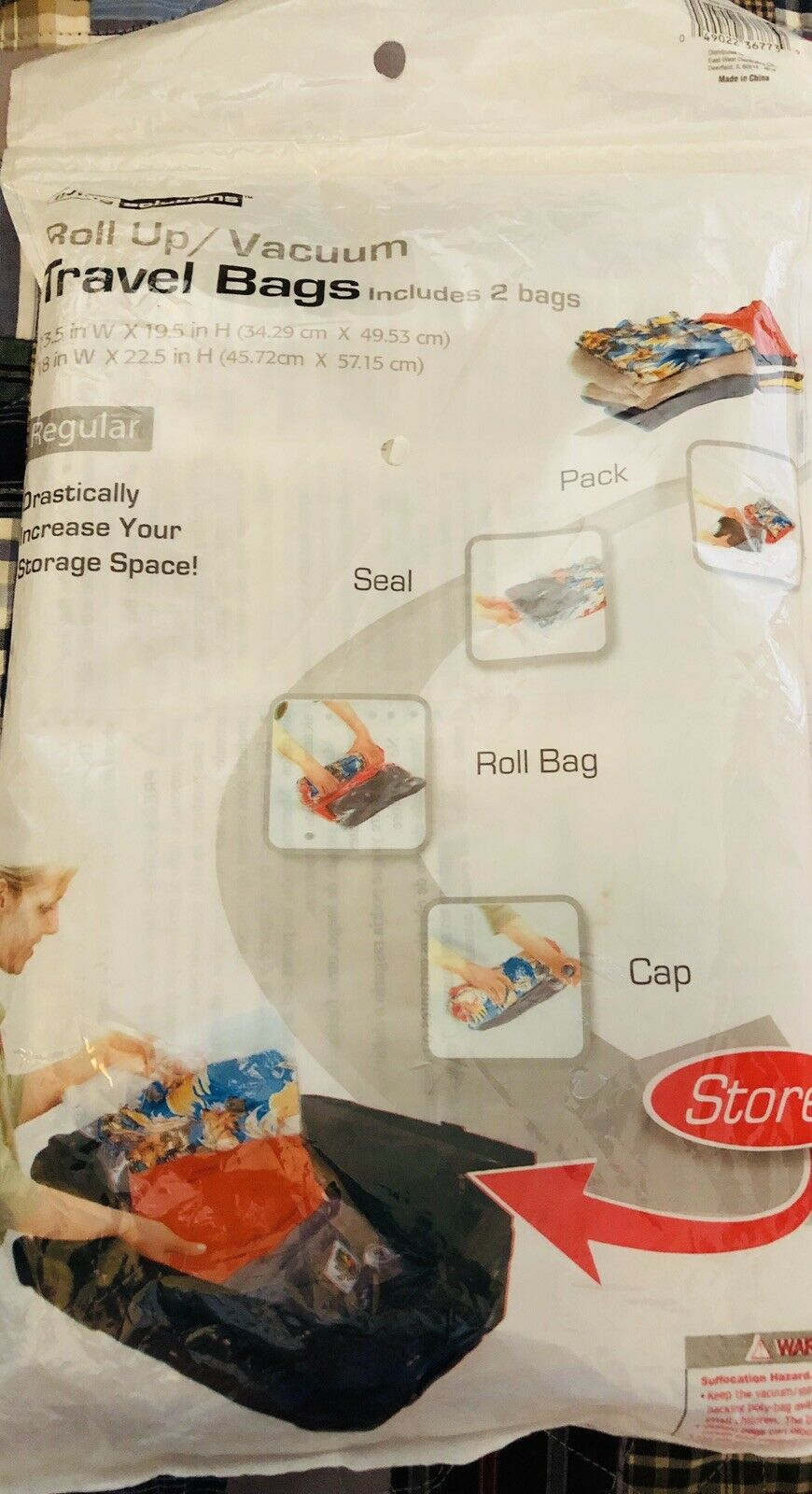 Roll Up/Vacuum Travel Bags - Living Solutions