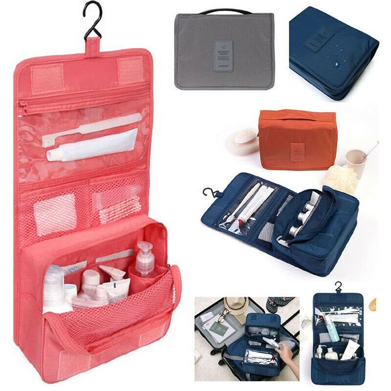 S Hanging Toiletry Bag Travel Cosmetic Kit Large Essentials Organizer ...