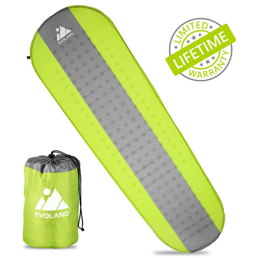 Self Inflating Mat Outdoor Travel Tent Sleeping Pad Hiking Camping Air...