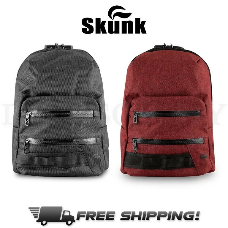 Skunk MINI Backpack Smell Proof Odor Proof Stash Bag w/ Combo Lock - A...
