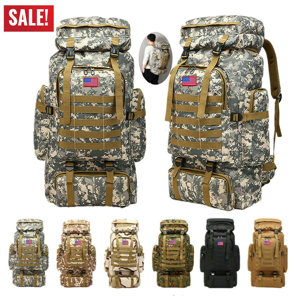 Sport Outdoor Military Rucksacks Tactical Molle Backpack Camping Hikin...