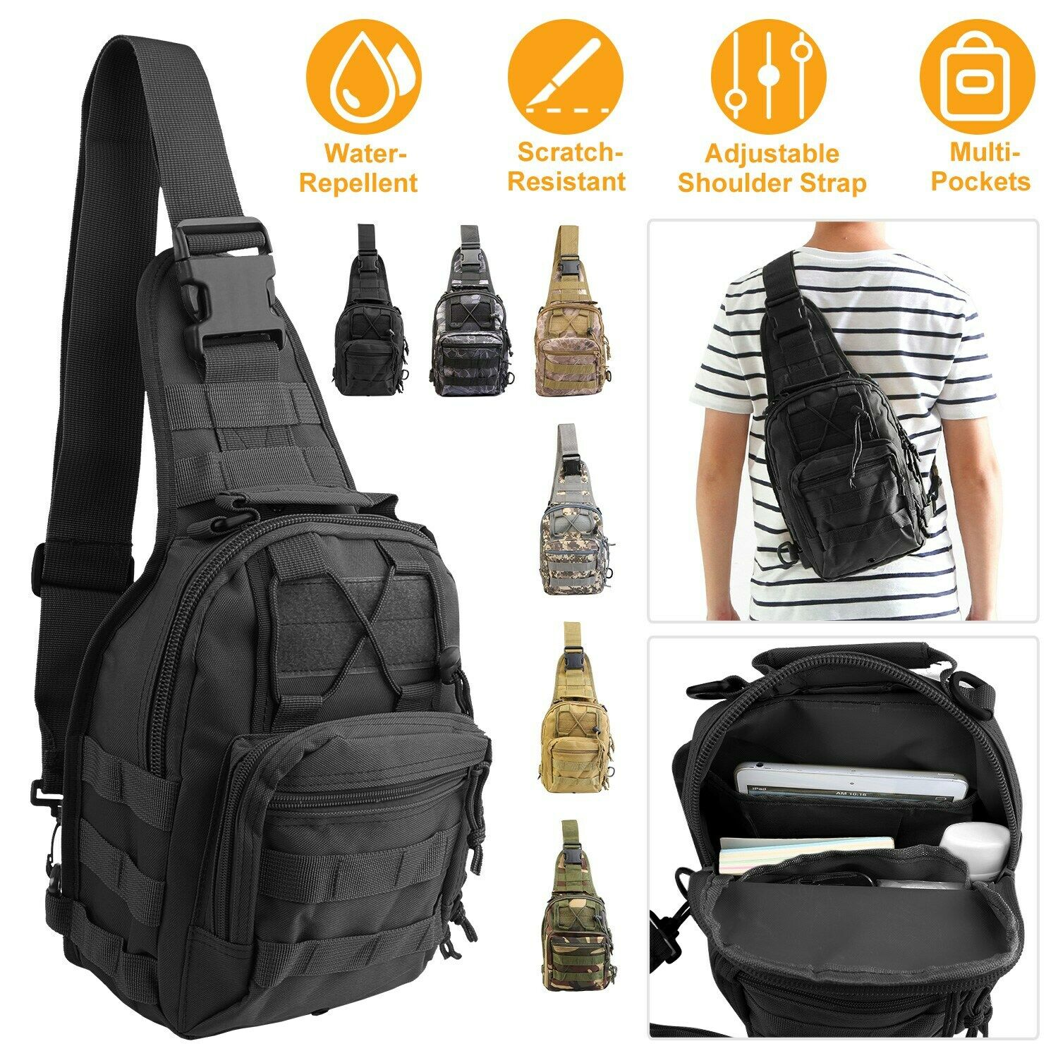 Tactical Military Sling Bag Backpack Rover Pack Small Shoulder Molle A...
