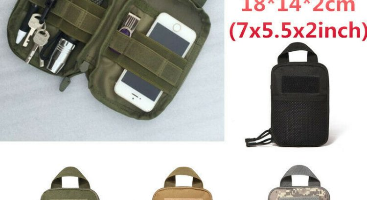 Tactical Molle Belt Waist Bag Pack Military Pouch Waist Fanny Pack Pho...