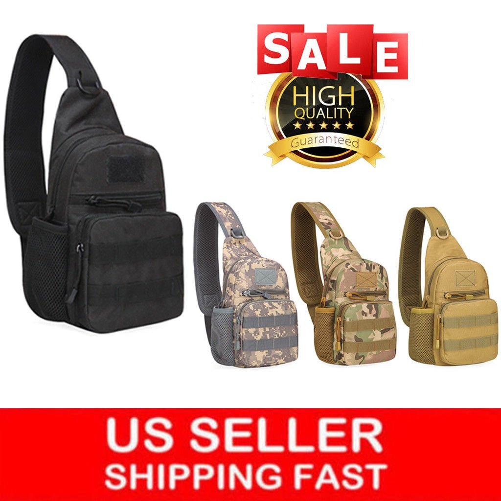 Tactical Sling Bag Military Backpack Pack Small Shoulder Sling Molle B...