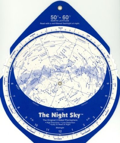 The Night Sky, 50°-60° (Large) Star Finder - The Night Sky 50° 60° Large Star Finder