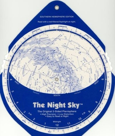 The Night Sky, Southern Hemisphere (Large) Star Finder - The Night Sky Southern Hemisphere Large Star Finder