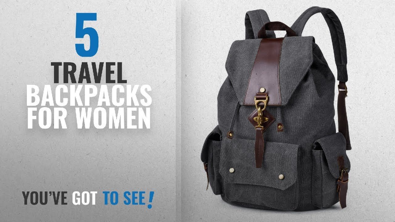 Travel Backpacks For Women [2018 Best Sellers]: Vbiger Canvas Backpack...