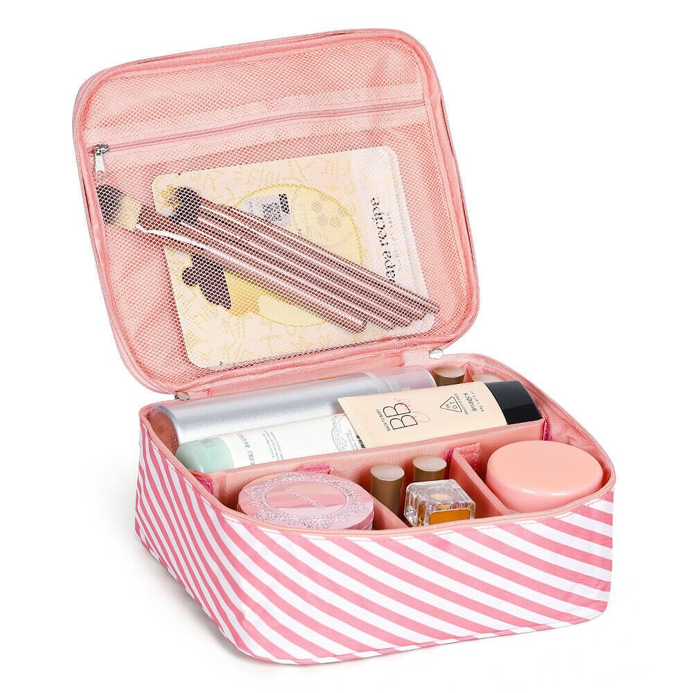 Travel Cosmetic Bag Girl Multifunction Makeup Pouch Toiletry Case Magi...
