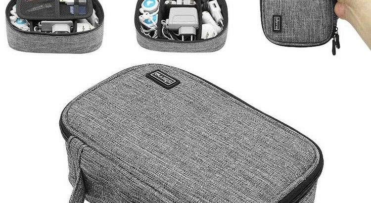 Travel Electronics Organizer Case Bag Cable Charger Accessories Carryi...