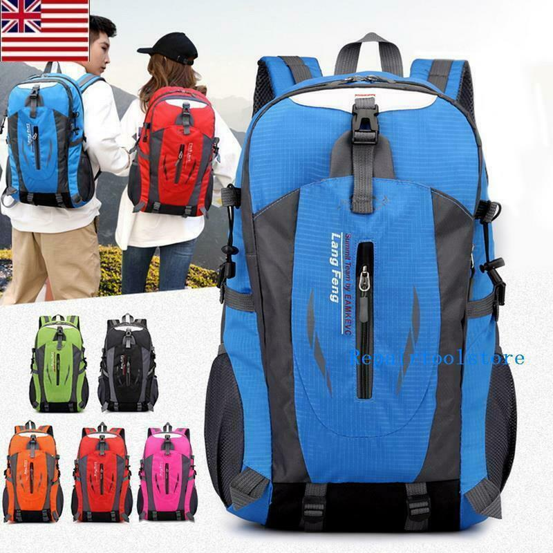 Travel Hiking Backpack Waterproof Outdoor Climbing Daypack Nylon Rucks...