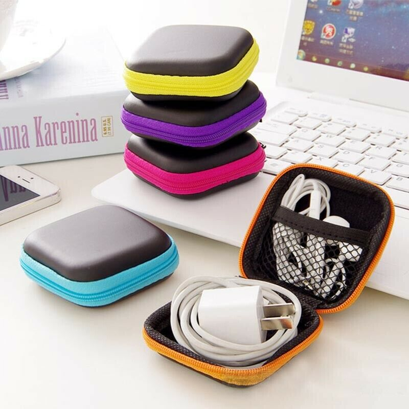 Travel Key Phone Charger USB Cable Earphone USB Organizer Case Storage...