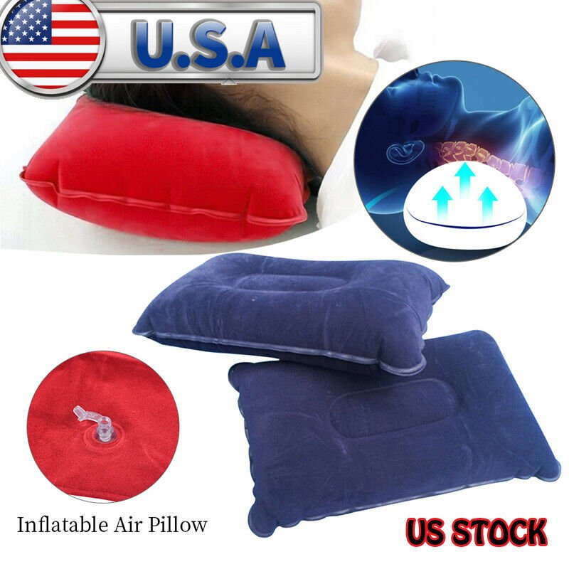 Travel Outdoor Inflatable Air Pillow Comfortable Cushion Protect Head ...