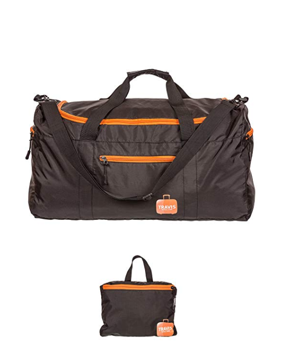 Travis Travel Duffel Bag - Foldable Carry-on with waterproof electroni...