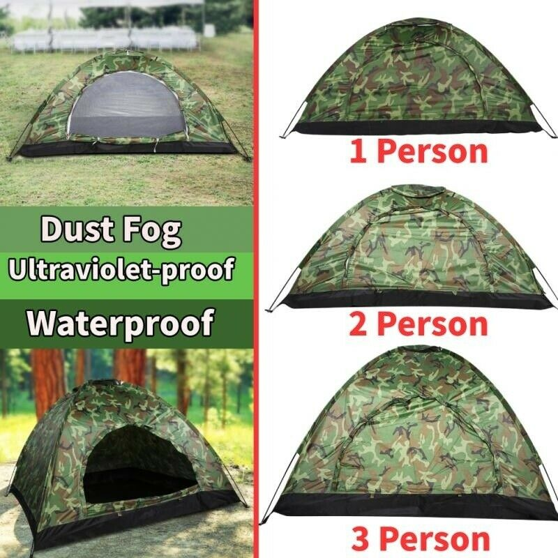 US 1/2/3-4 Person Instant Up Camping Tent Waterproof Outdoor Hiking Tr...