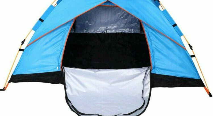US 2-3 Person Automatic Pop-Up Outdoor Tent Camping Backpacking Tents ...