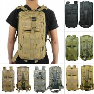 US,Tactical Backpack Army Assault Day Pack Hiking Trekking Camping Bug...