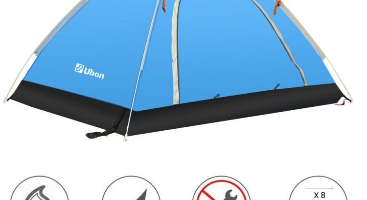 Ubon Ultralight 2 Person Backpacking Tent Camping Tent Waterproof 4 Se...