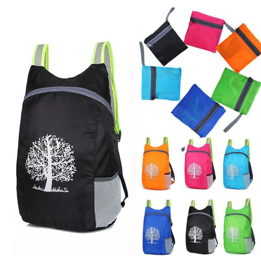 Universal Durable Folding Packable Portable Polyester Travel Hiking Ba...