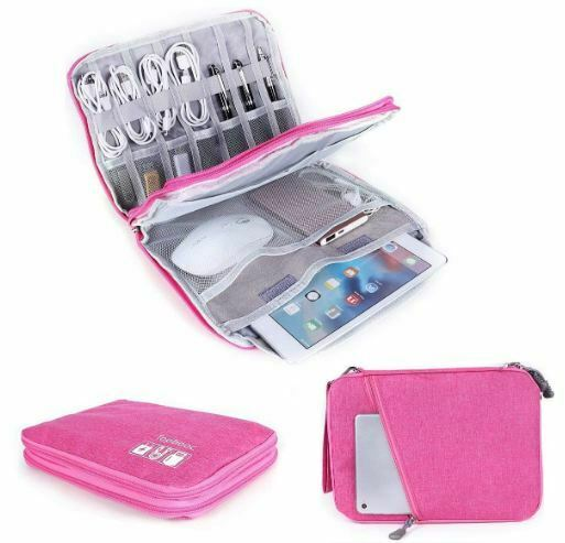 Universal Electronics Accessories Organizer Cable Bag Travel Carry Cab...