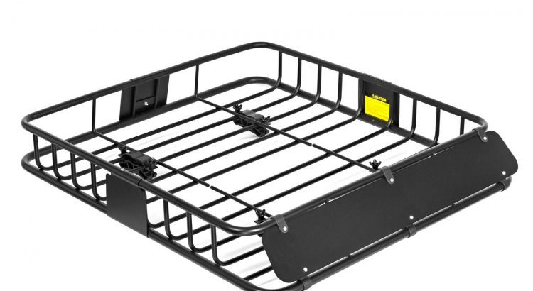 Universal Roof Rack Cargo Carrier Car SUV Van Top Luggage Holder Trave...