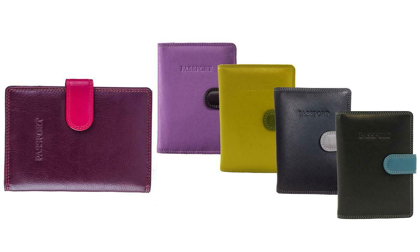 Visconti 75 Multicolor Passport Wallet - with RFID Identity Theft Prot...
