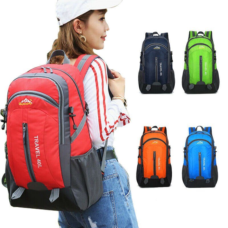 Waterproof Backpack Shoulder Hiking Bag Pack Outdoor Camping Travel Ru...