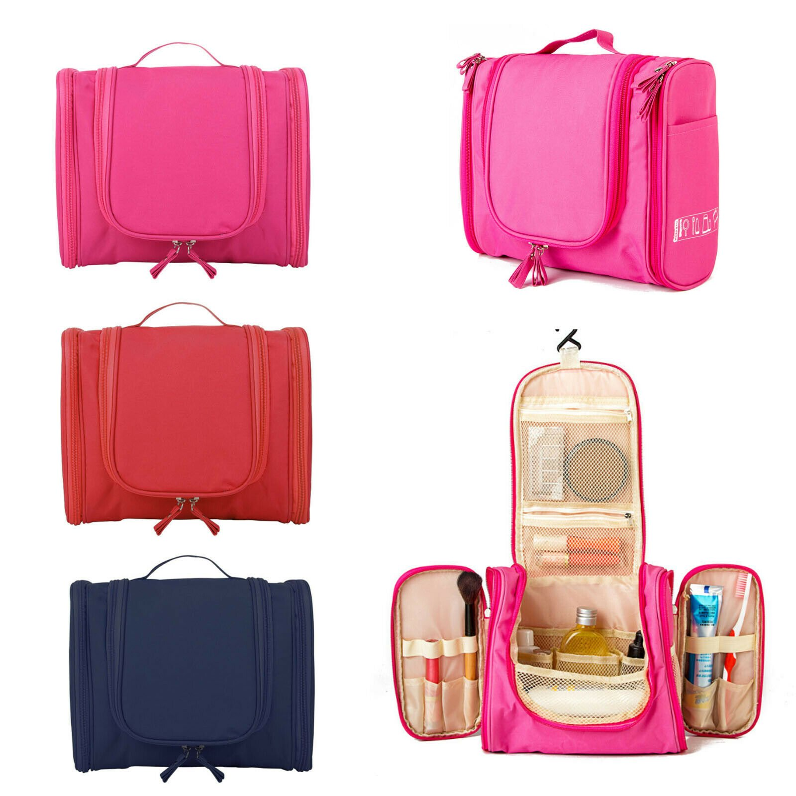 Waterproof Hanging Toiletry Bag Travel Cosmetic Kit Essentials Storage...