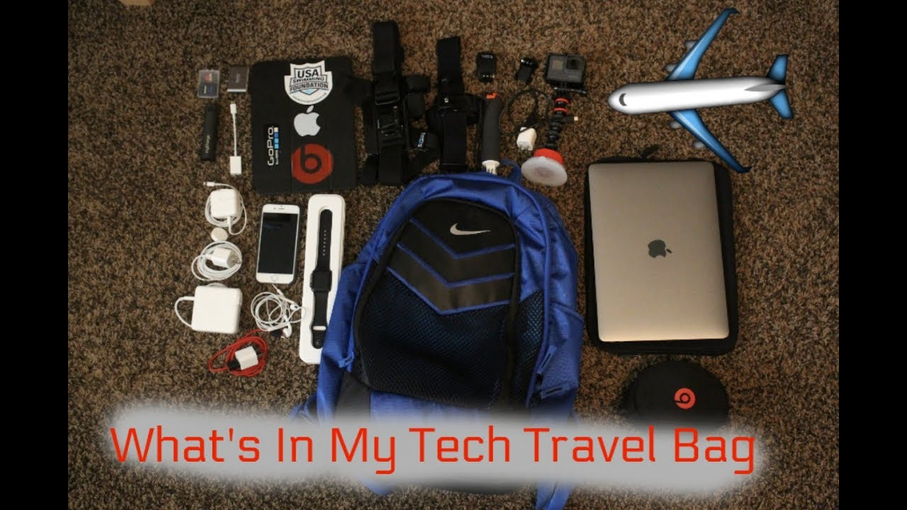 What's In My Tech Travel Backpack!!