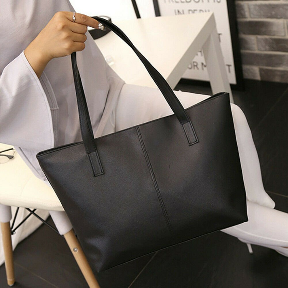 Women Ladies Leather Shoulder Bag Celebrity Tote Purse Travel Bag High...